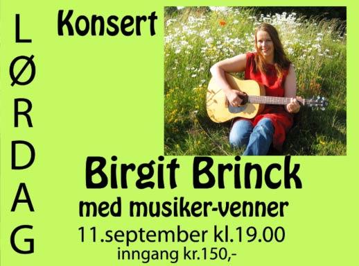 Birgit Brinck konsert Skarnes