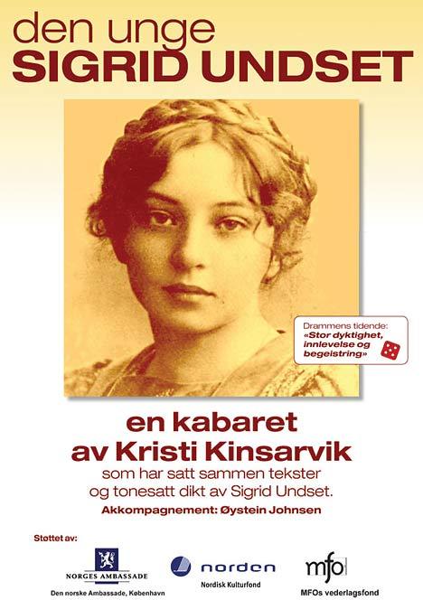 Plakat for Kinsarviks Undset-kabaret