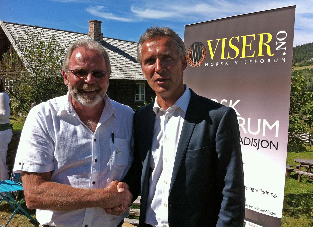 Birger Aasland og Jens Stoltenberg