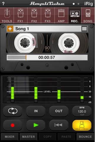 iPhone-opptaker Amplitube