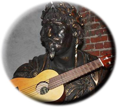 Christian med ukulele